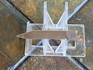 Vintage George Schrade Pocket Knife Blade Only Pats 1937 & 44 MINT! NR