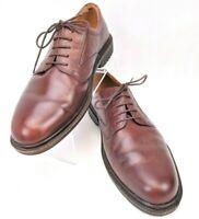 Ecco Men's US 11 EU 45 Brown Leather Round Toe Lace Up Derby Oxford Dress Shoe