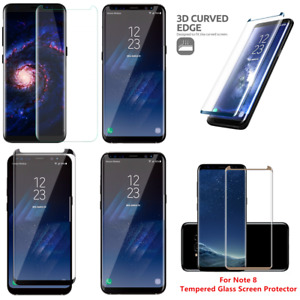 3-12 Pack Lot Premium Tempered Glass Screen Protector For Samsung Galaxy Note 8