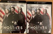 HOSTILES 4K ULTRA HD BLU RAY 2 DISC SET + SLIPCOVER SLEEVE FREE WORLD SHIPPING