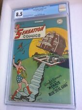 SENSATION COMICS #72 CGC 8.5 WHITE PAGES (ONLY 2 BETTER)