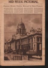 1921 SINN FEIN BURN CUSTOM HOUSE IN DUBLIN
