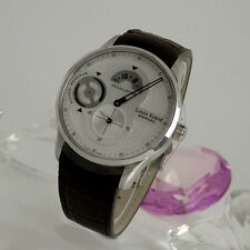 Louis Erard Regulator Power Reserve  - Edelstahl Handaufzug - Lederband NEU