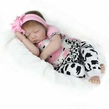 Lifelike 22in Sleeping Girl Soft Silicone Reborn Doll Handmade Newborn Baby