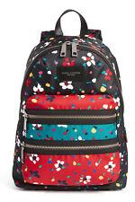 NWT Marc Jacobs Floral Biker Backpack Zip Nylon BLACK Multicolor $270 AUTHENTIC!