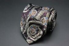 ROBERT TALBOTT 7 Seven Fold Tie. Whimsical Purple Floral. Made in Italy. 12/40