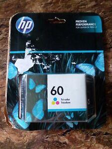 Genuine HP 60 Tri-Color Ink Cartridge CC643WN  Exp. 09/2018 New Sealed
