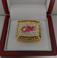 Steve Yzerman 1998 Detroit Red Wings Stanley Cup Hockey Custom Ring W Wooden Box