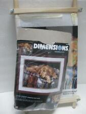 DIMENSIONS needlepoint kit LOYAL FRIEND dog golden retriever lab + scroll frame