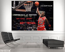 MICHAEL JORDAN POSTER MiJo2 NBA Basketball MOTIVATIONAL Quote Sportsman Wall art