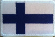 FINLAND FLAG embroidered iron-on PATCH FINNISH EMBLEM