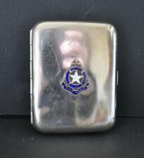 White Star Line R.M.S. Doric silver plate & enamel cigarette case