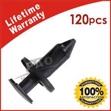 120Pcs Plastic Rivets Fastener Push Clips Fits Car Auto Fender 8 mm Hole