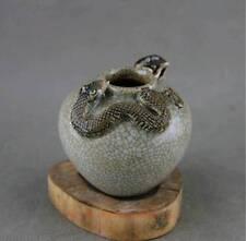 old chinese fengshui porcelain glaze mouse snake Tanks Crock pot jar Dd1
