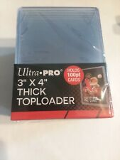1 pack Ultra Pro 3x4 Thick Toploaders 100pt Brand New.. 25ct per pack