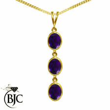 Oval Amethyst Yellow Gold Fine Necklaces & Pendants