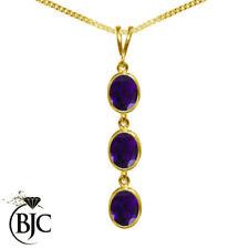 Collane e pendagli di bigiotteria pietre viola ovali