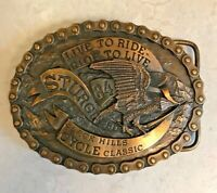 Vintage 1984 Sturgis Black Hills Cycle Classic Belt Buckle Limited Edition