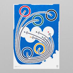 Tokyo 2020 Olympic Official Art Poster Taku Sato B2 H728 x W515