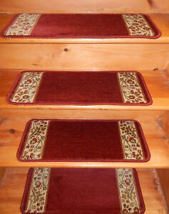 12 Step  = 10'' x 26''   Rug Carpet Stair Treads Heaset-set Polypropylene