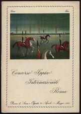 cartolina CONCORSO IPPICO INTERNAZIONALE ROMA illustr. TANZI