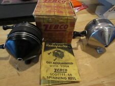 Vintage ZEBCO reels X 2 Scottee 66 in box with papers, and a Super model 22
