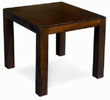 DAKOTA 80CM DINING TABLE, SOLID MANGO WOOD IN DARK WALNUT FINISH