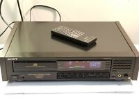 Rare Vtg SONY ES CDP-508ESD CD player w/Remote. Rosewood sides. Read Descr.