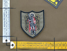 "Ricamata / Embroidered Patch ""Saint Michael"" with VELCRO® brand hook"