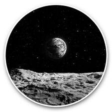 2 x Vinyl Stickers 25cm (bw) - Planet Earth Space NASA Moon Blue  #43709