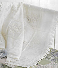 Heirloom panelled baby shawl knitting pattern 4 ply 147