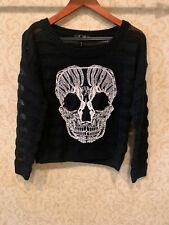 Nollie Junior Girls Skull Knit sweater