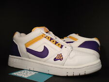 03 Nike Air Force II 2 Low 1 LA LAKERS WHITE PURPLE DEL SOL GOLD 305602-151 9.5