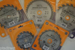 MTL Brand TCT Circular Saw Blades For Wood Choose from 125mm to 235mm dia.