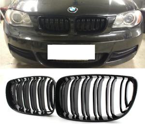 BMW E87 E81 E82 E88 M style gloss black double spoke slat kidney grille grilles