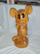 "vintage 19"" WALT DISNEY Large Wooden Mickey Mouse Sculpture Figurine Statue"
