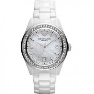 Emporio Armani AR1426 Ceramica Ladies Leo Medium Watch