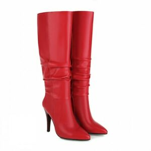 Women Knee High Boots Party 5 Colors Pumps Outdoor Pointy Toe High Heel Shoes L