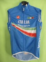 Maillot Coupe vent cycliste ITALIE Italia Castelli sans manche jersey - M