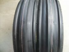 TWO 400x8, 4.00-8 Front 3 Rib Garden CUB CADET Easy Steer Tractor Tires w/Tubes