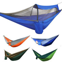 Double Person Camping Nylon Fabric Parachute Hammock Sleeping Swing Outdoor