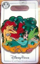 Disney Store Ariel Little Mermaid Bath Time Le-250 Jumbo Pin Stained Glass Fx