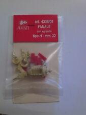 AMATI FANALE CON SUPPORTO TIPO H  22 MM ART. 4338/01