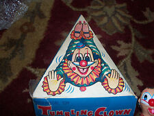 Vintage wind up Tumbling Clown mechanical toy with box working .collectibles