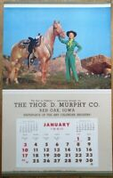 Pinup Cowgirl 1960 Poster/Advertising Calendar: Woman & Horse-Blue Ranch Dandies