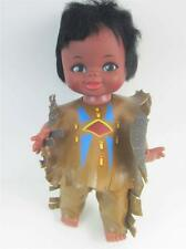 "Vintage Reliable Doll Canada Native American Indian Vinyl 11"" All Orig Clothes"