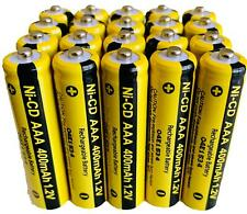 20 x AAA Rechargable Batterys 1.2V 400mAh Electronic Devices Phones Toys