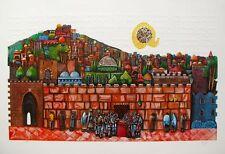 "AMRAM EBGI ""BAR MITZVAH AT THE WESTERN WALL""  SIGNED EMBOSSED FOIL STAMPED PRINT"