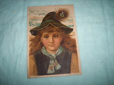 GLOBE SOAP TRADE CARD - GIES & CO. BUFFALO, NY / BOY WITH PEACOCK FEATHER IN HAT