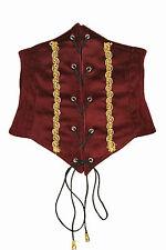 Corsetto Corsage Busto Rosso Scuro Costume Di Carnevale Vestito Tirolese